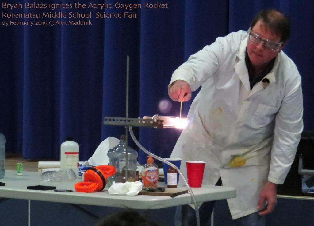 the acryic-oxygen rocket