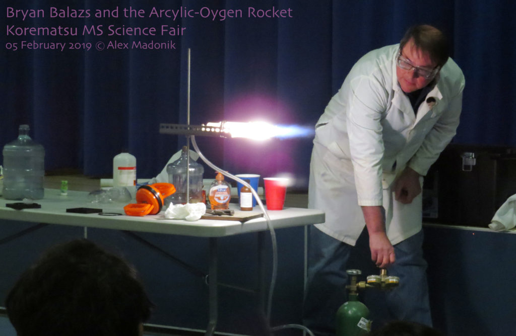 the acryic-oxygen rocket fires up