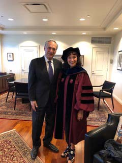 President Robert Zimmer (Univ of Chicago) and Dr. Cheryl Dembe June 15, 2019