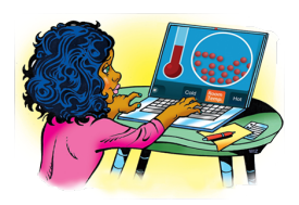 Learning chemistry online - ACS resources illustration